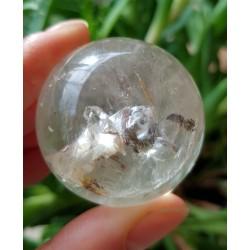 Bergkristal bol met ietwat Mica