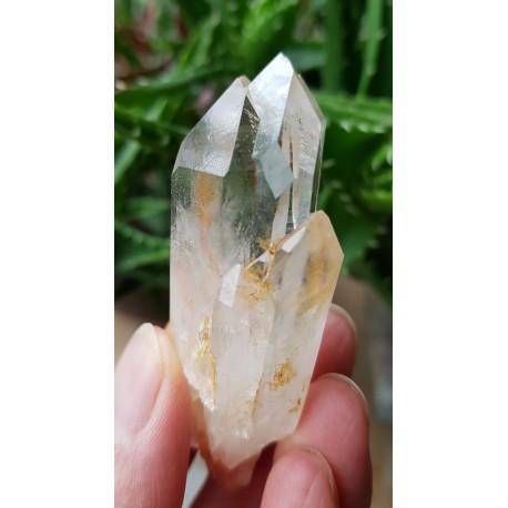 Bergkristal punt/ cluster met Hematiet, Agnitiet