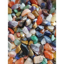 100 gram Trommelsteentjes klein, divers