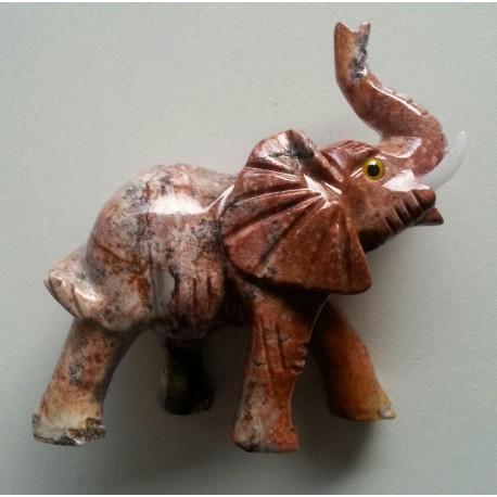 Aragoniet olifanten beeldje