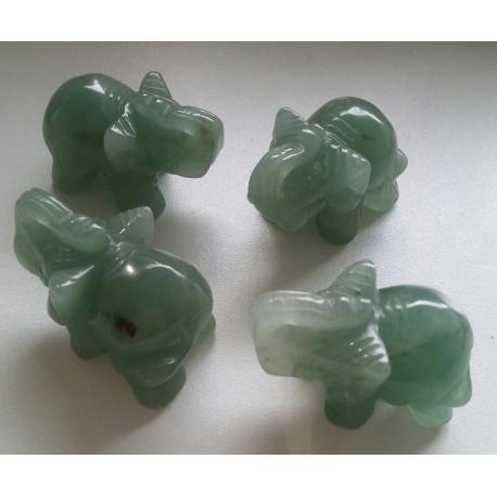 Aventurijn olifant beeldje