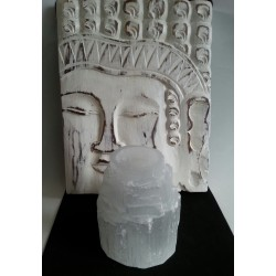 Set: Boeddha paneel & Seleniet Waxinelicht houder
