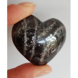 Zwarte Maansteen hart