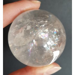 Bergkristal bol, met regenboogjes