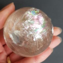 Bergkristal bol met grote regenboog